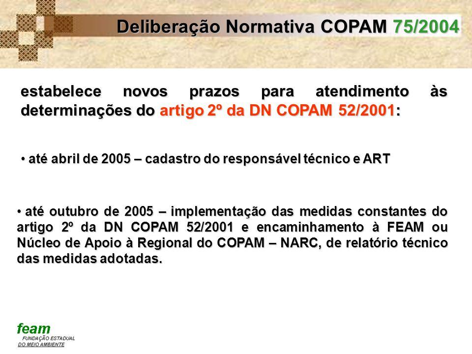Deliberação Normativa COPAM 75/2004