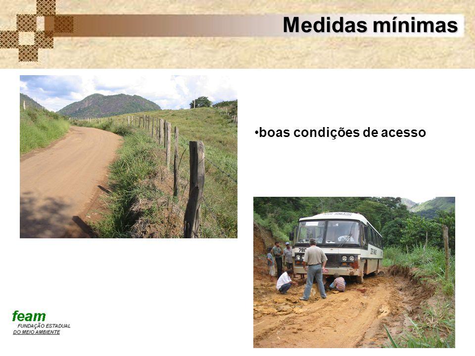 Medidas mínimas boas condições de acesso
