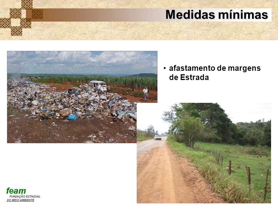 Medidas mínimas afastamento de margens de Estrada