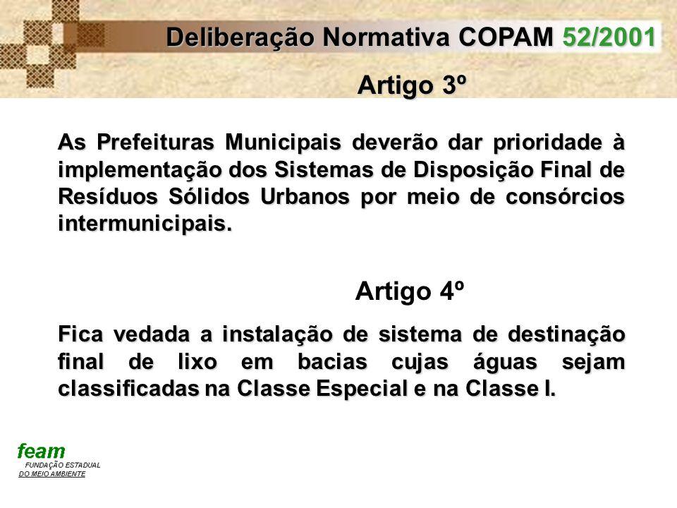 Deliberação Normativa COPAM 52/2001