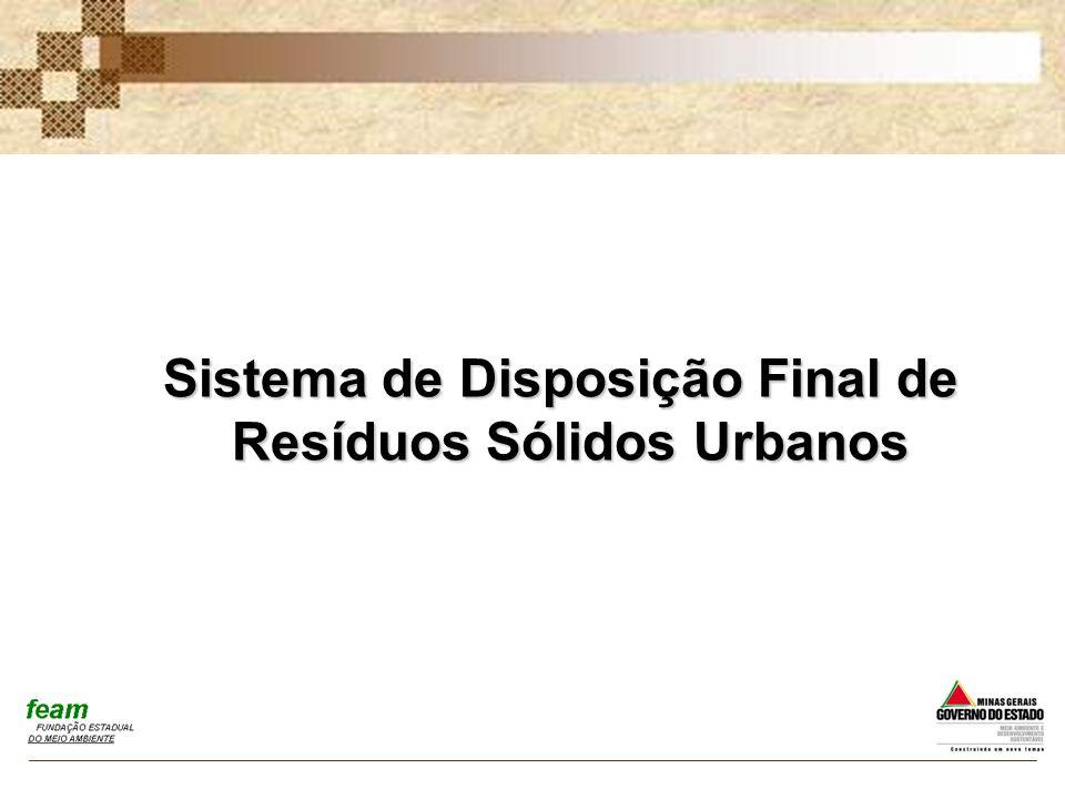 Sistema de Disposição Final de Resíduos Sólidos Urbanos