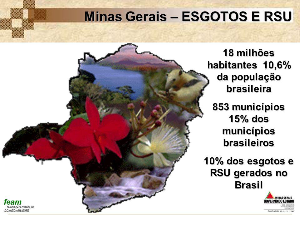 Minas Gerais – ESGOTOS E RSU