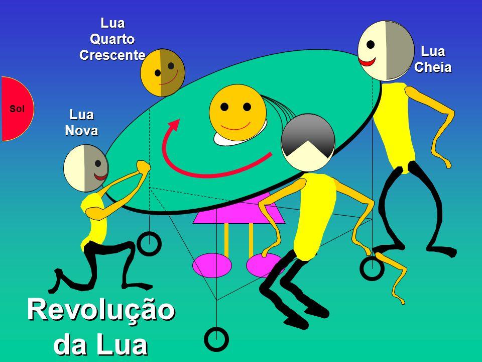 Lua Quarto Crescente Lua Cheia Sol Lua Nova Revolução da Lua