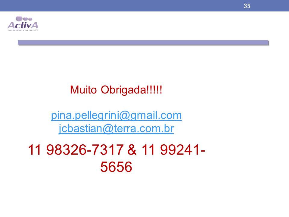 Muito Obrigada!!!!! pina.pellegrini@gmail.com jcbastian@terra.com.br 11 98326-7317 & 11 99241-5656