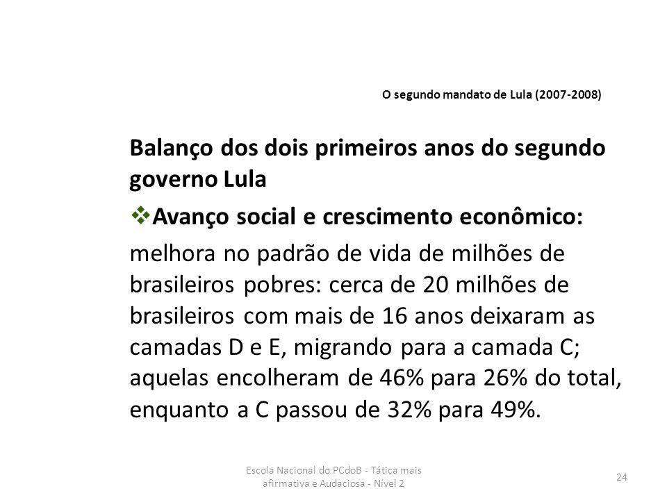 Balanço dos dois primeiros anos do segundo governo Lula