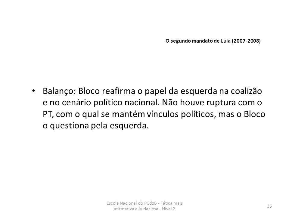 O segundo mandato de Lula (2007-2008)