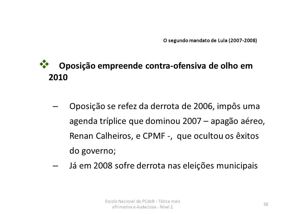 Oposição empreende contra-ofensiva de olho em 2010
