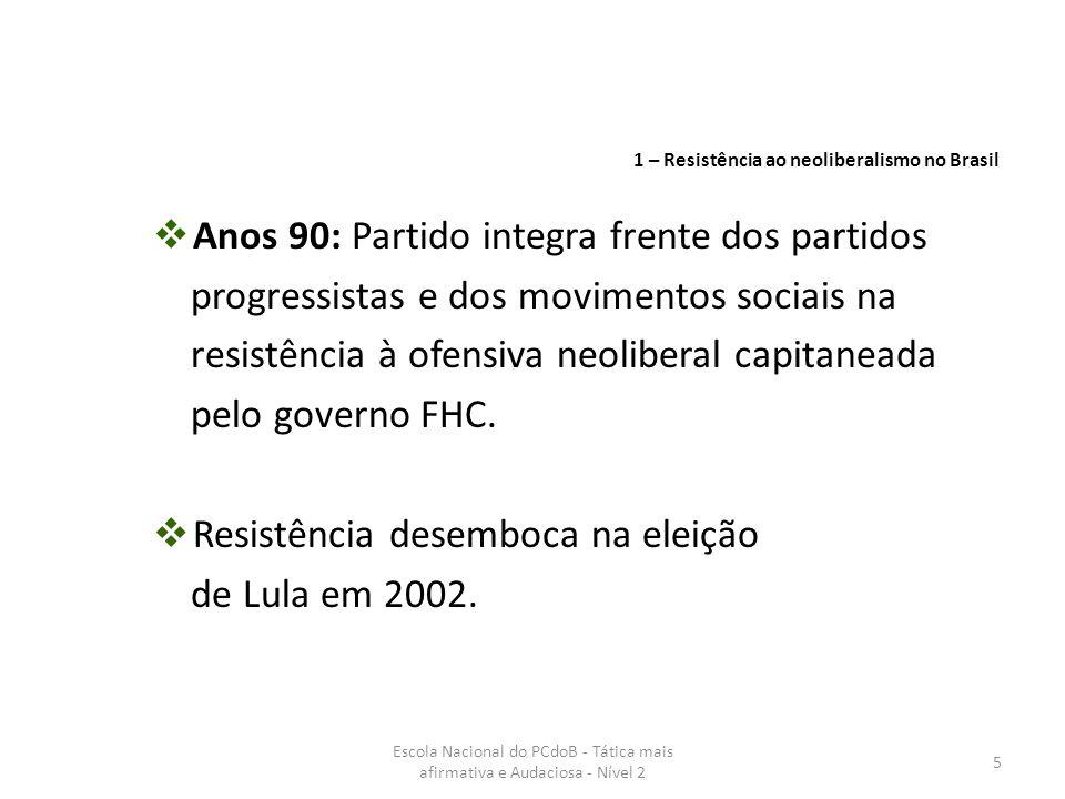 Anos 90: Partido integra frente dos partidos