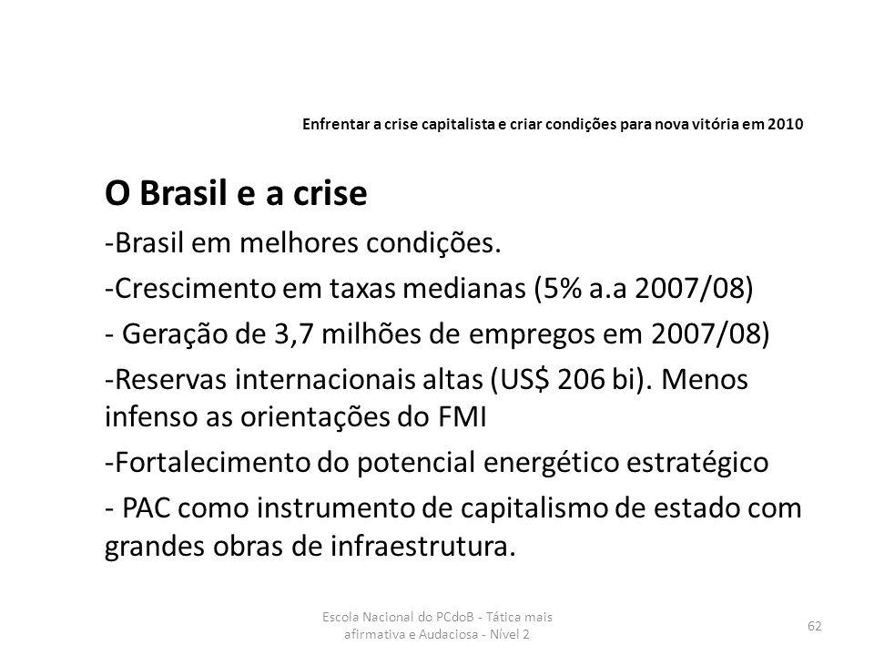 O Brasil e a crise Brasil em melhores condições.