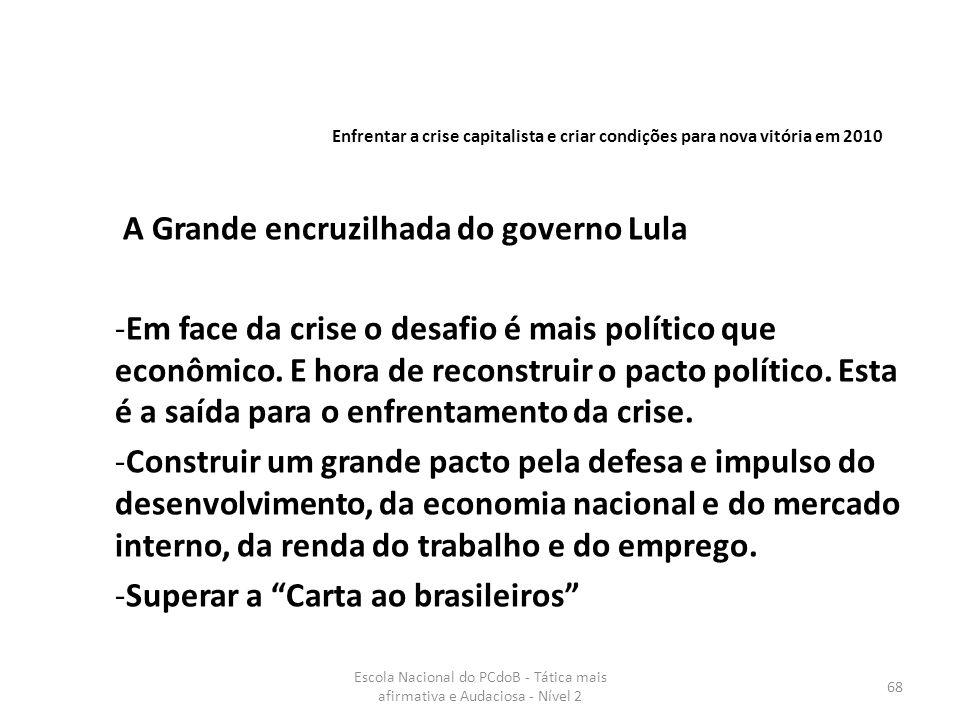 A Grande encruzilhada do governo Lula