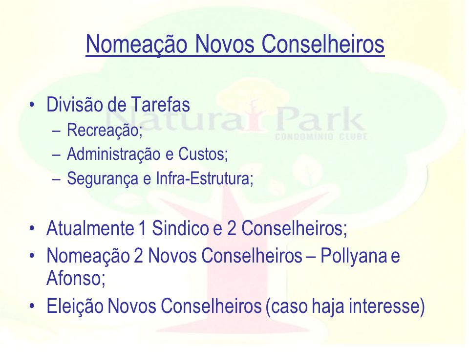 Nomeação Novos Conselheiros
