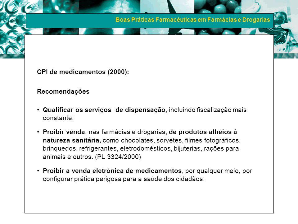 CPI de medicamentos (2000): Recomendações