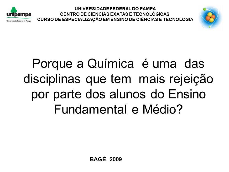 CURSO DE ESPECIALIZAÇÃO EM ENSINO DE CIÊNCIAS E TECNOLOGIA