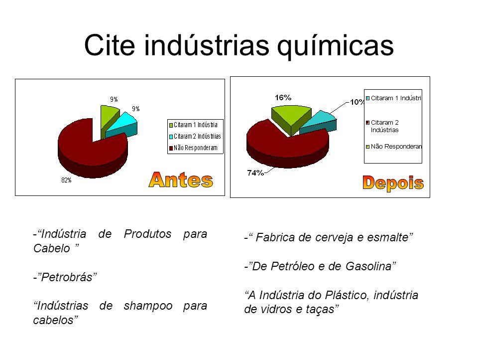 Cite indústrias químicas