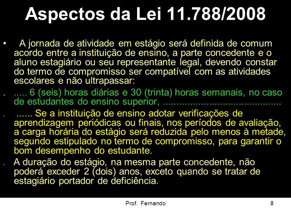 Aspectos da Lei 11.788/2008