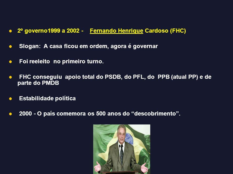 2º governo1999 a 2002 - Fernando Henrique Cardoso (FHC)