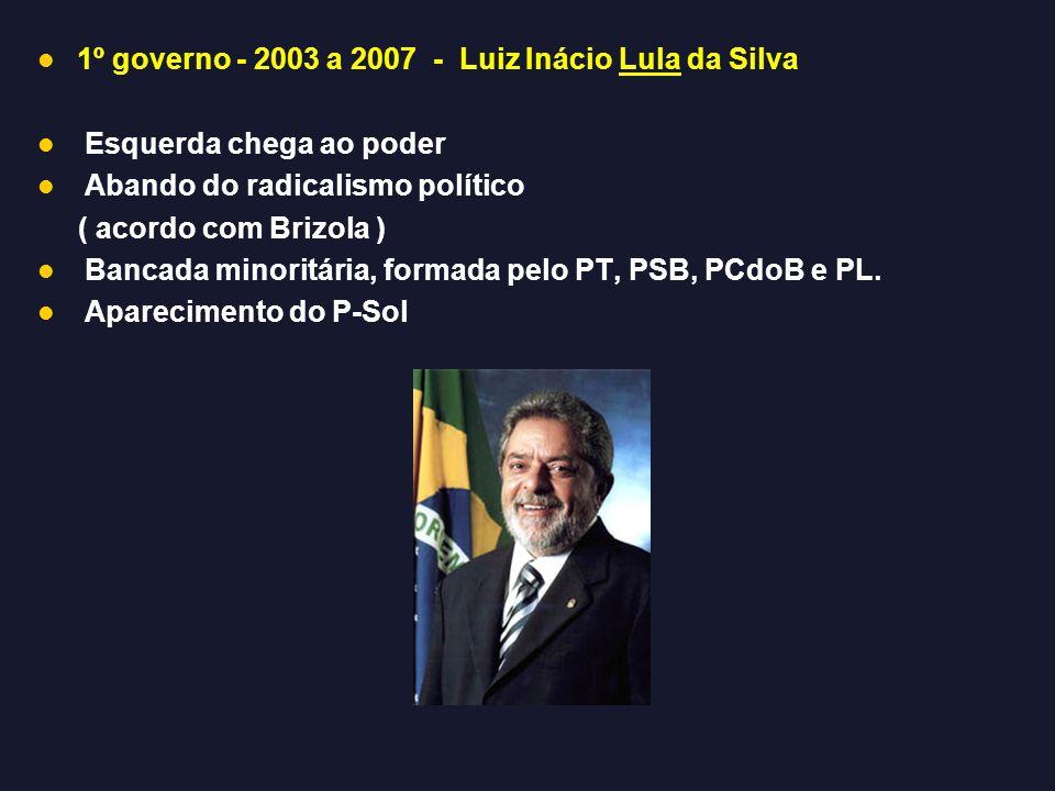 1º governo - 2003 a 2007 - Luiz Inácio Lula da Silva
