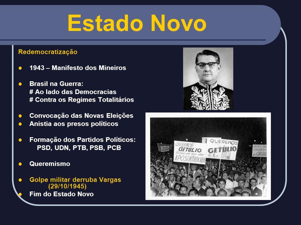 Estado Novo Redemocratização 1943 – Manifesto dos Mineiros