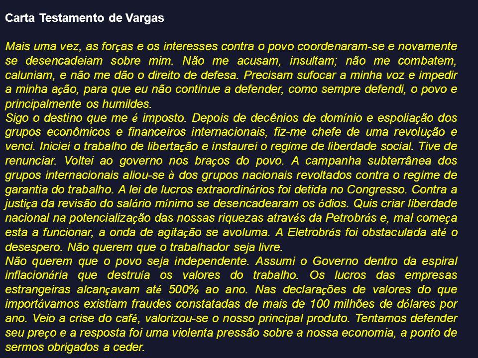 Carta Testamento de Vargas