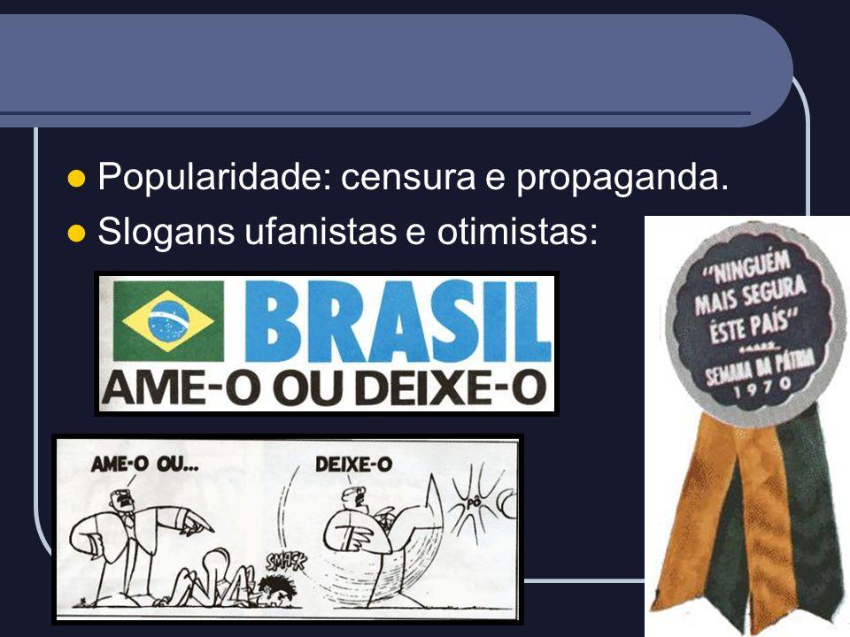 Popularidade: censura e propaganda.
