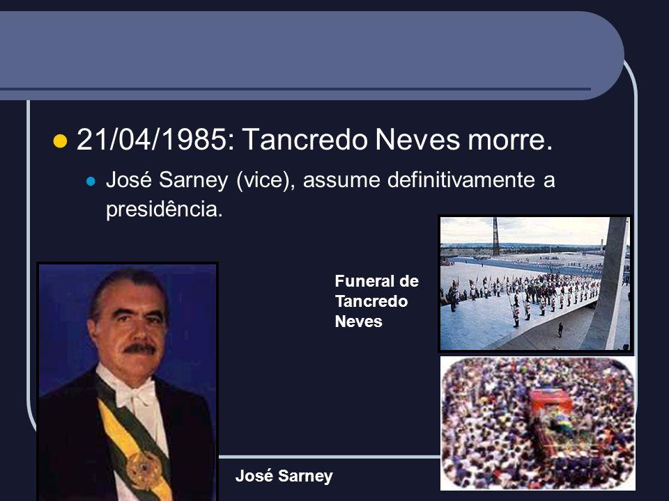 21/04/1985: Tancredo Neves morre.