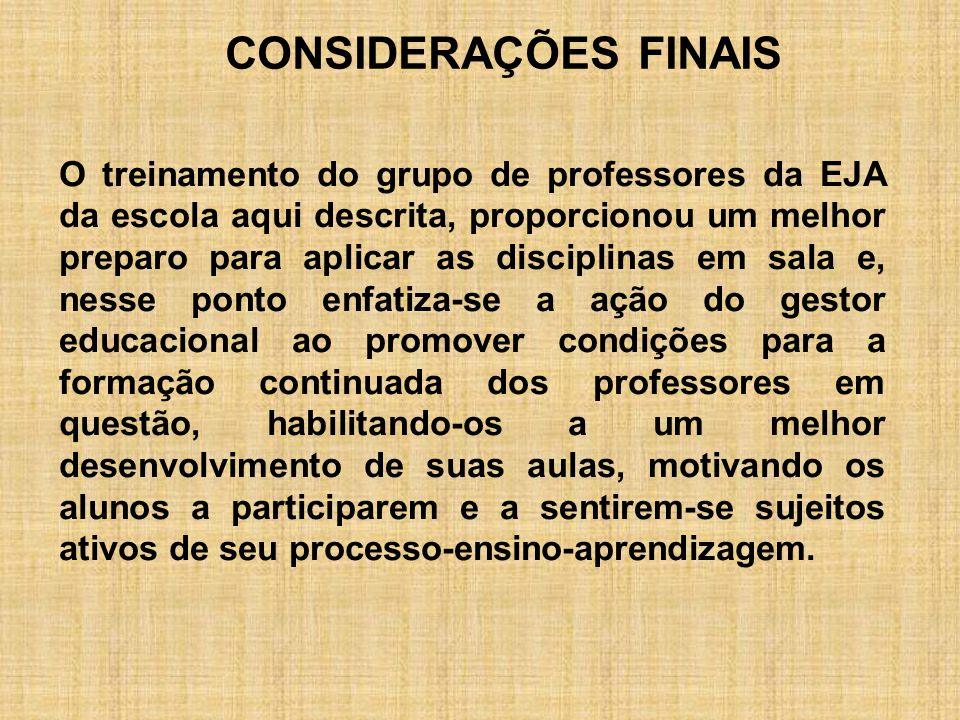 CONSIDERAÇÕES FINAIS