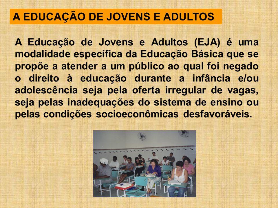 A EDUCAÇÃO DE JOVENS E ADULTOS