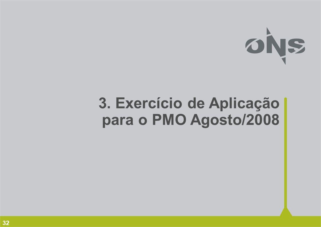 3. Exercício de Aplicação para o PMO Agosto/2008