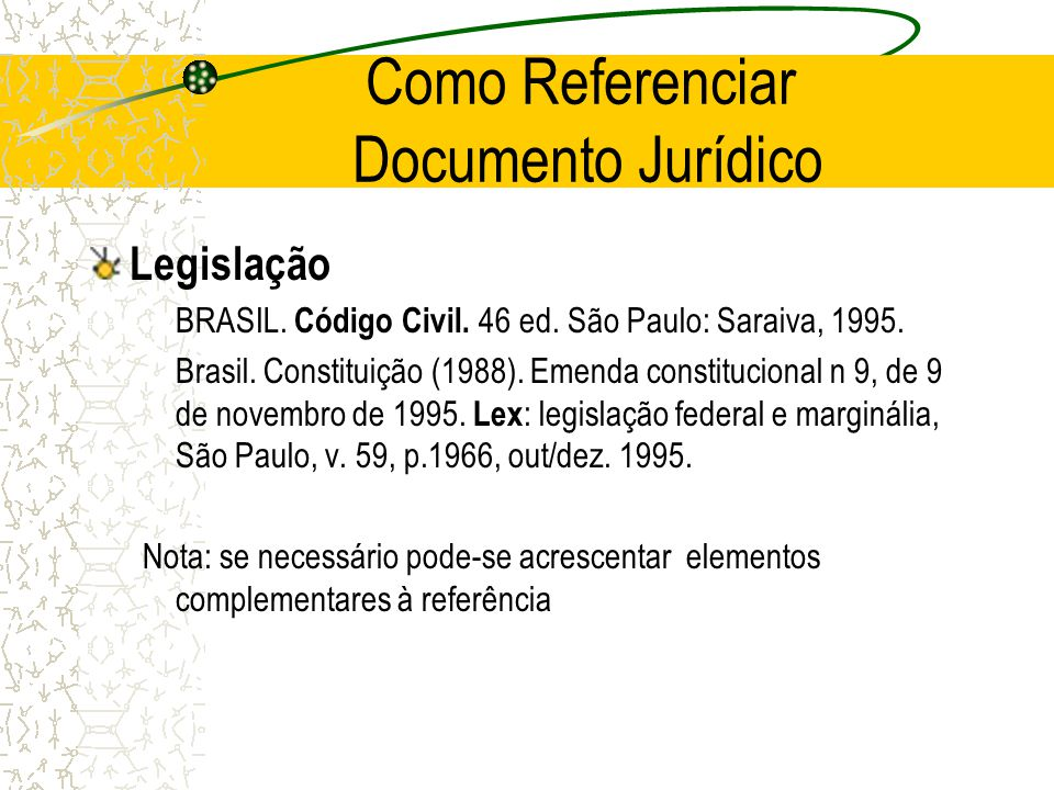 Como Referenciar Documento Jurídico