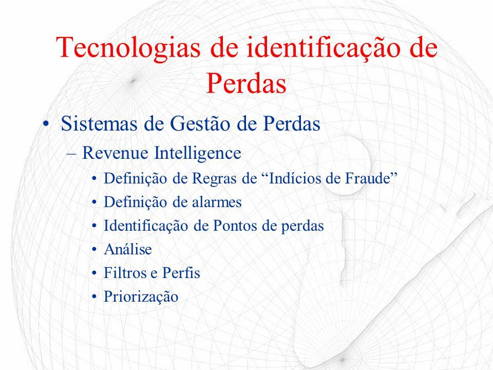 Tecnologias de identificação de Perdas