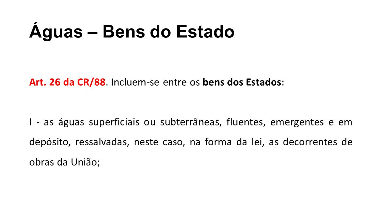 Águas – Bens do Estado