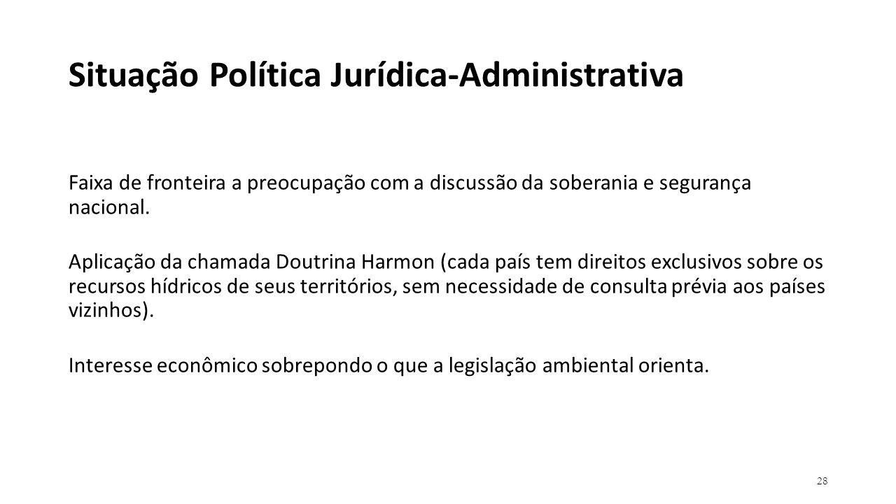 Situação Política Jurídica-Administrativa