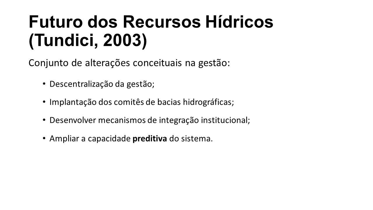 Futuro dos Recursos Hídricos (Tundici, 2003)