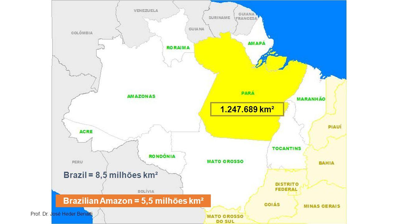 Brazilian Amazon = 5,5 milhões km²