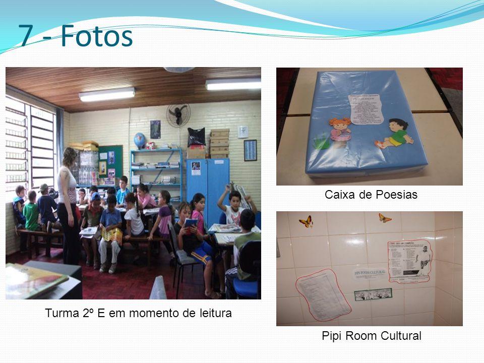 7 - Fotos Caixa de Poesias Turma 2º E em momento de leitura