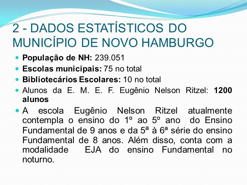 2 - DADOS ESTATÍSTICOS DO MUNICÍPIO DE NOVO HAMBURGO