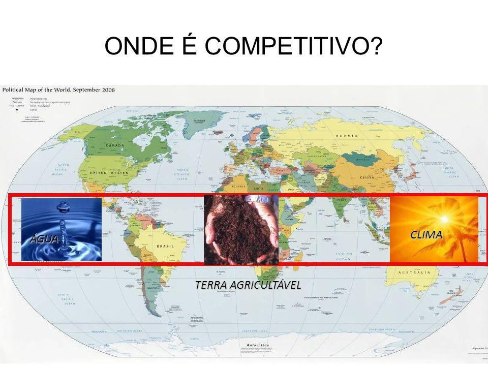 ONDE É COMPETITIVO CLIMA ÁGUA TERRA AGRICULTÁVEL 10