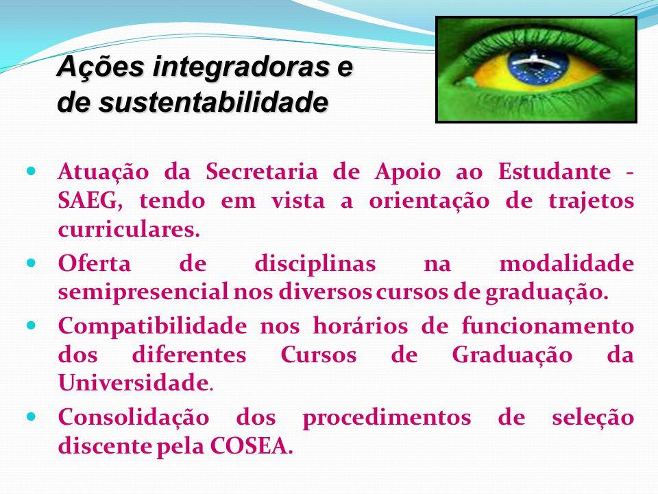 Ações integradoras e de sustentabilidade
