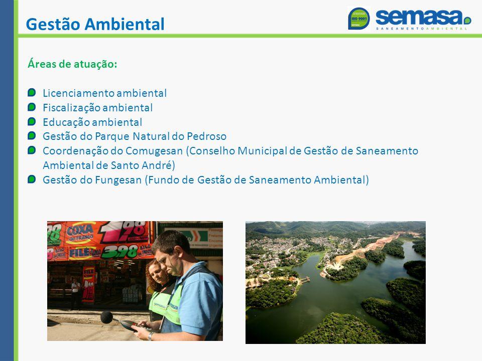 Gestão Ambiental Áreas de atuação: Licenciamento ambiental