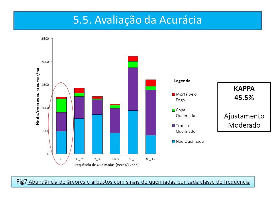 5.5. Avaliação da Acurácia KAPPA 45.5% Ajustamento Moderado