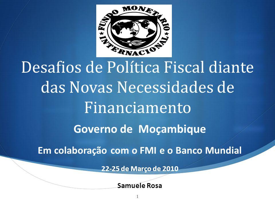 Em colaboração com o FMI e o Banco Mundial