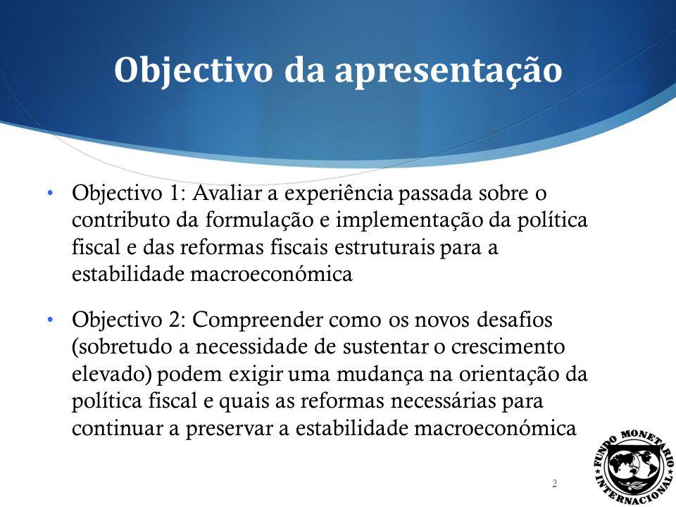 Objectivo da apresentação