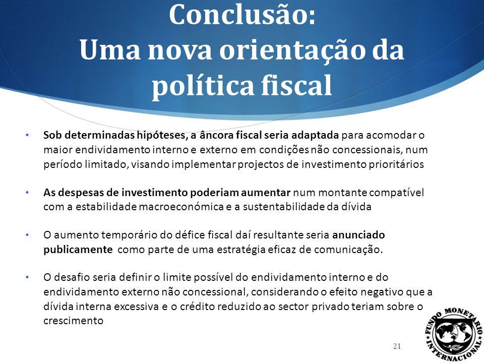 Conclusão: Uma nova orientação da política fiscal