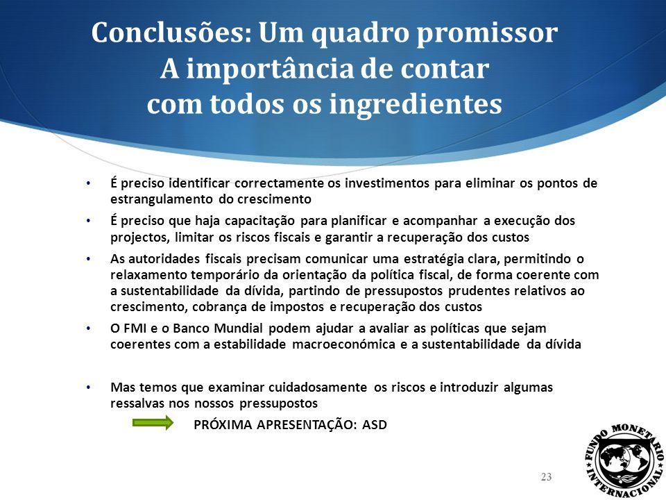 Conclusões: Um quadro promissor A importância de contar com todos os ingredientes