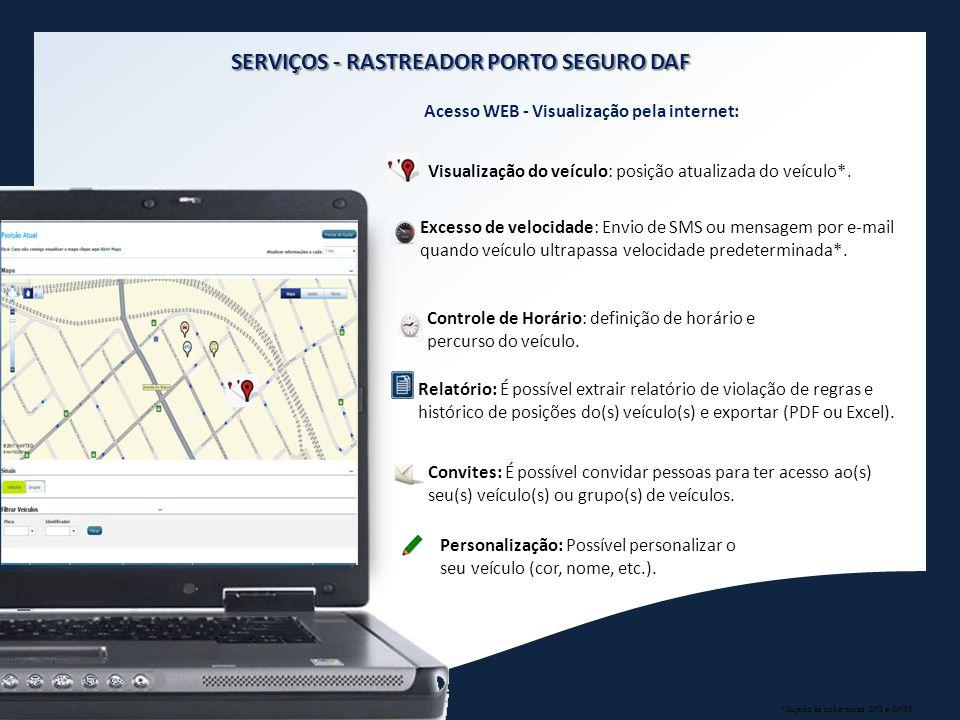 SERVIÇOS - RASTREADOR PORTO SEGURO DAF