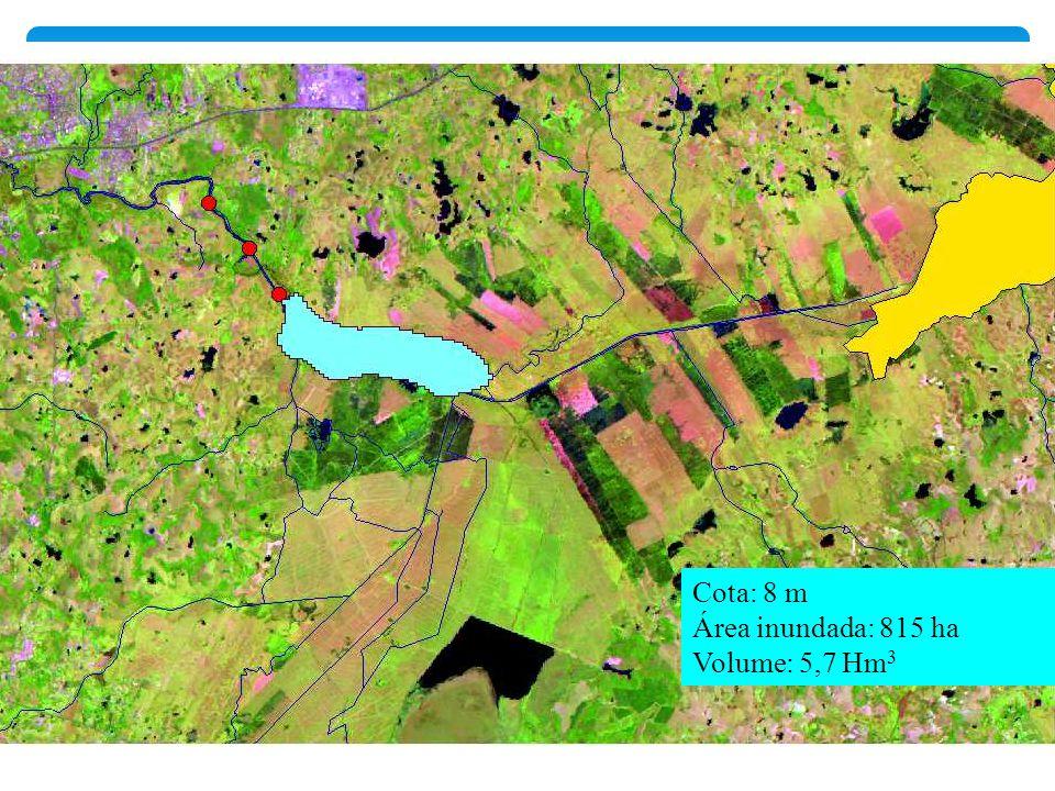 Cota: 8 m Área inundada: 815 ha Volume: 5,7 Hm3