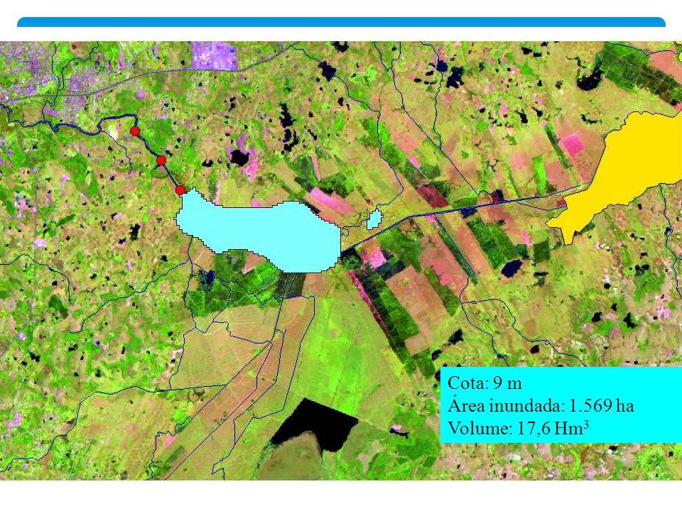 Cota: 9 m Área inundada: 1.569 ha Volume: 17,6 Hm3