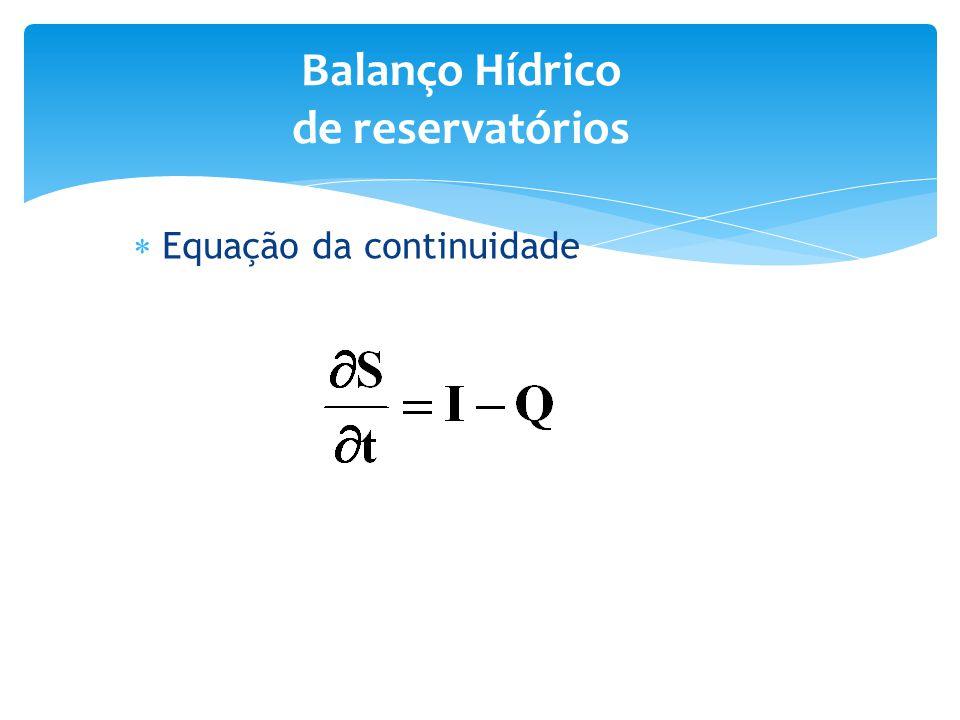 Balanço Hídrico de reservatórios