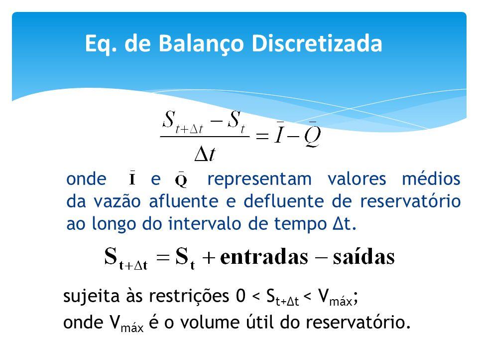 Eq. de Balanço Discretizada