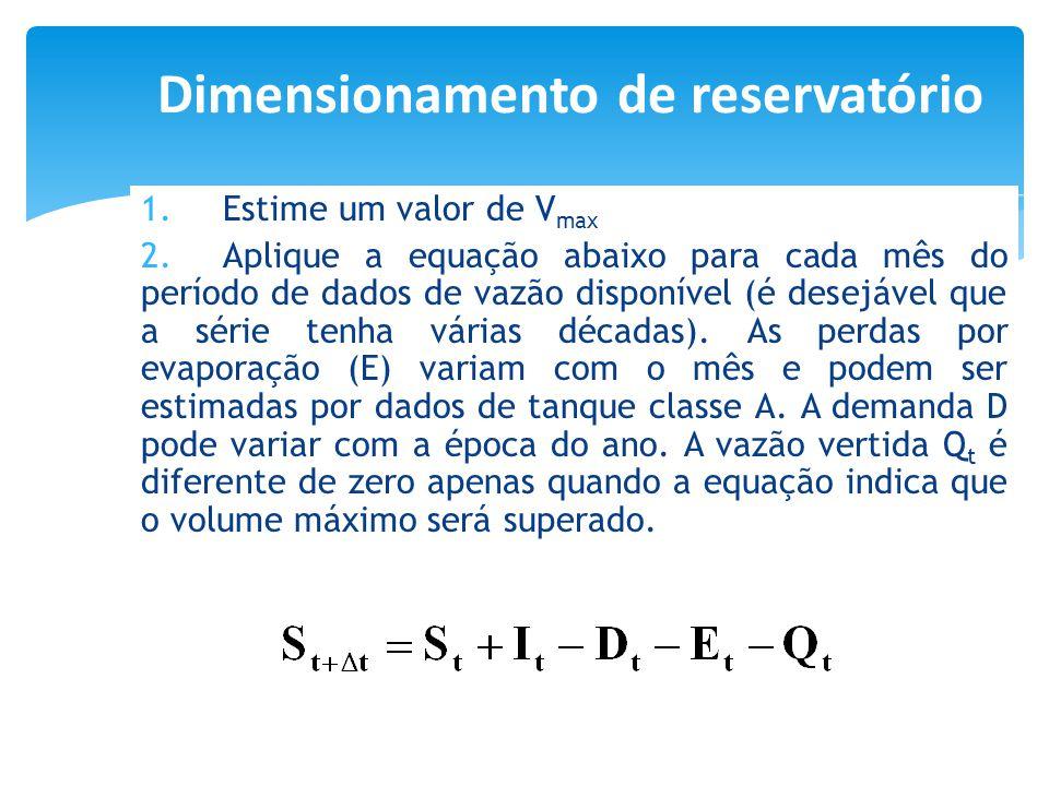 Dimensionamento de reservatório